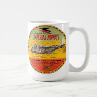Imperial airways clipper flying boat coffee mug