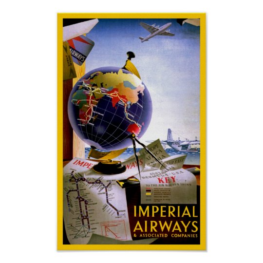 Imperial Airways Globe Poster