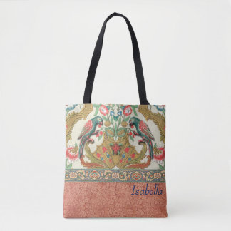 Imperial Blue Parrots Tote Bag