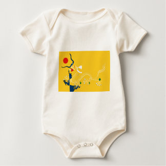 imperial-china-Flag Baby Bodysuit
