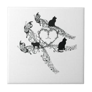 Imperial court music cat tile