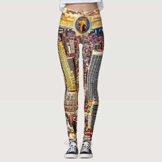Imperial Empress New York Skyline Leggings