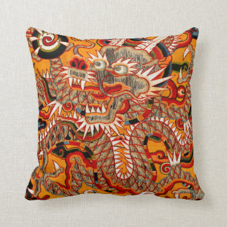Imperial Ming Chinese Dragon Graphic Pillow