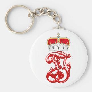 Imperial Monogram of Arch Duke Franz Ferdinand Basic Round Button Keychain