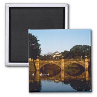 Imperial Palace, Nijubashi Bridge, Tokyo, Japan Square Magnet