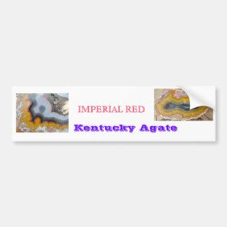 IMPERIAL RED kentucky agate BUMPER STICKER