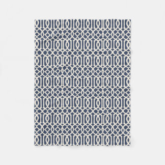 Imperial Trellis Pattern Fleece Blanket