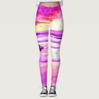 Imperial Tropical Sunset Leggings