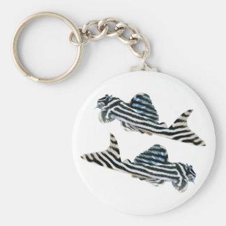 Imperial Zebra Pleco Keychain