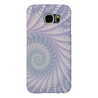Impish Purple and Blue Abstract Spiral Samsung Galaxy S6 Cases