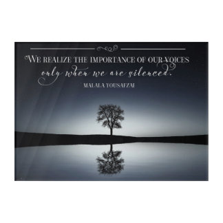 Importance Of Our Voices Acrylic Wall Art