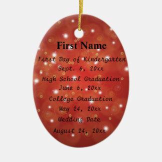 Important Dates & Achievements Ornament