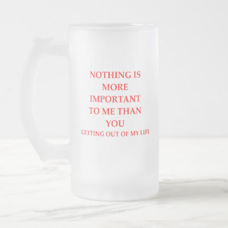 IMPORTANT FROSTED GLASS BEER MUG