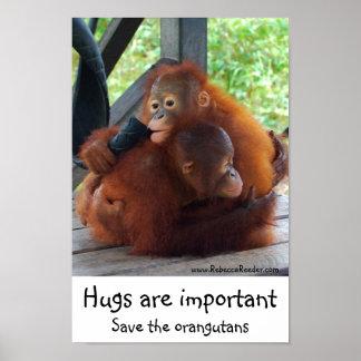 Important Inspirational Hugs Poster