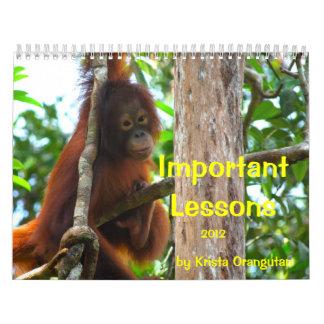 Important Lessons for Children by Krista Orangutan Calendars