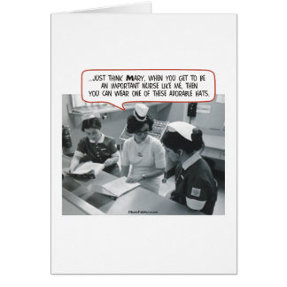 Important Nurse - Adorable Hat Greeting Card