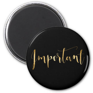Important Weekly Planner Home Office Black Gold Magnet