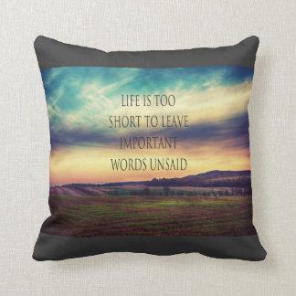 Important Words landscape Throw Pillow