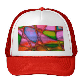 imposing abstract red hat