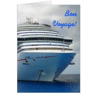 Imposing Bow Custom Bon Voyage Card