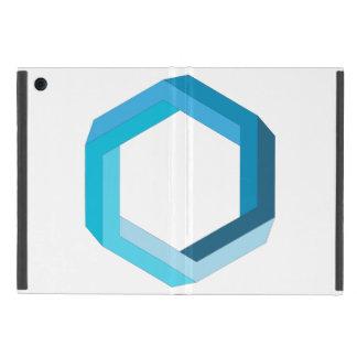 Impossible geometry: Blue hexagon. iPad Mini Cover
