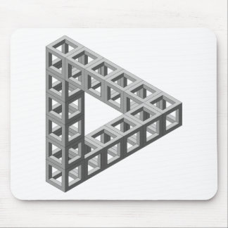 Impossible Optical Illusion Triangle Mouse Pad