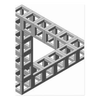 Impossible Optical Illusion Triangle Postcard