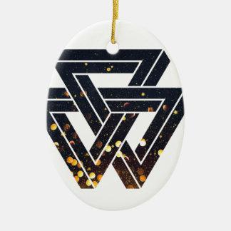 Impossible Solar Geometry 1 Ceramic Ornament