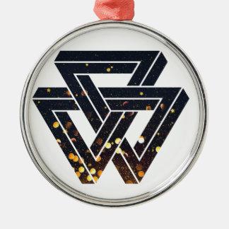 Impossible Solar Geometry 1 Metal Ornament