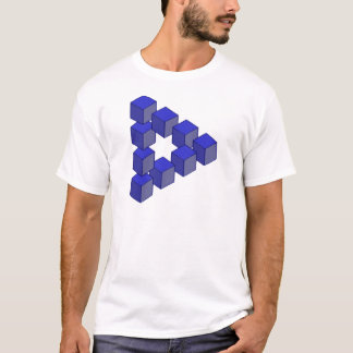 Impossible Staircase of Squares Optical Illusion T-Shirt