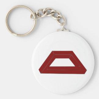 Impossible Trapezoid Optical Illusion Basic Round Button Keychain