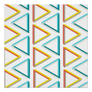 Impossible triangles geeky pattern perfect poster