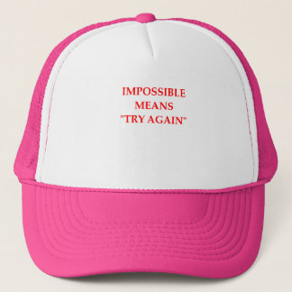 IMPOSSIBLE TRUCKER HAT