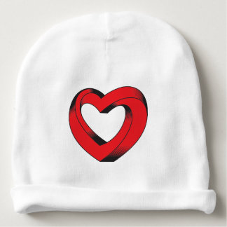 impossibly twisted heart baby beanie