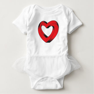 impossibly twisted heart baby bodysuit