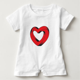 impossibly twisted heart baby romper