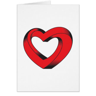 impossibly twisted heart card