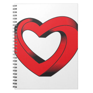 impossibly twisted heart notebook