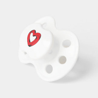 impossibly twisted heart pacifier