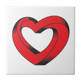 impossibly twisted heart tile