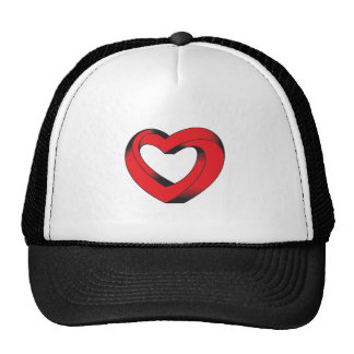 impossibly twisted heart trucker hat