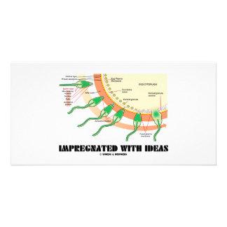 Impregnated With Ideas (Sperm Egg Fertilization) Customized Photo Card