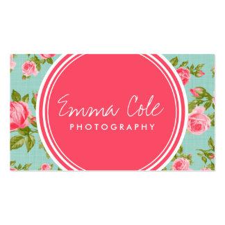 Impression florale vintage Girly de roses Modèles De Cartes De Visite