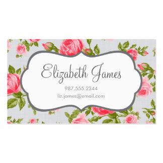 Impression florale vintage Girly de roses Cartes De Visite Personnelles