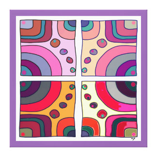 Impression on extra fabric large, Bubble Gum Art 2 Canvas Print