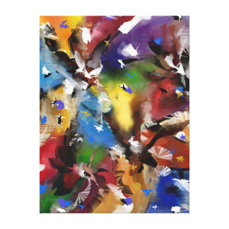 "Impression on fabric, ""Abstract 2.1705 "" Canvas Print"