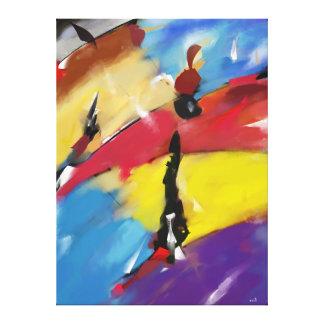 "Impression on fabric, Extra-Large, ""Regatta "" Canvas Print"