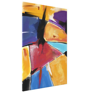 """Impression on fabric, Large model """"Abstract 1445 """" Canvas Print"""