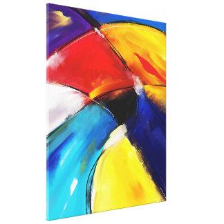 "Impression on fabric, Large model, ""SUNSET "" Canvas Print"