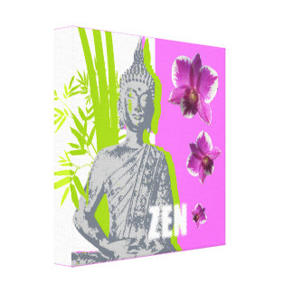 Impression on fabric ZEN Canvas Print